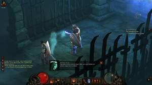 Diablo 3 - Komplettlösung : Leorics Frau, Königin Asylla mit unserem Barbaren.
