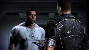 Mass Effect 3 : ] Auf unser neustes Crew-Mitglied James Vega treffen wir bereits in der ersten Spielminute.