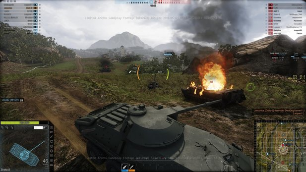 In der Early-Access-Beta von Armored Warfare treten wir mit moderneren Panzern an, als in der Vorlage World of Tanks.