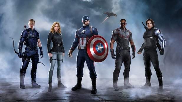 Konzeptposter zu Captain America 3 zeigt Team Captain America mit Ant-Man, Hawkeye, Sharon Carter, Falcon und Winter Soldier.