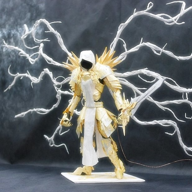 So sieh Tyrael in Papierform aus.