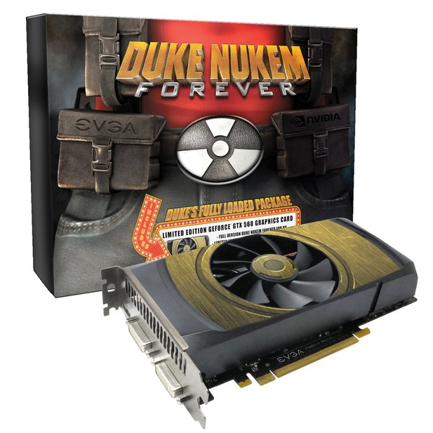 Das Fully Loaded Package von Duke Nukem Forever enthält die Grafikkarte Nvidia Geforce GTX 560 von EVGA.