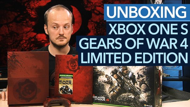 Limitierte Xbox One S - Unboxing der Gears of War 4 Edition