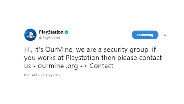PlayStations Twitter & Facebook Account gehackt