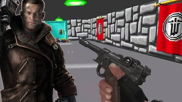Wolfenstein: The New Order - Wolfenstein-Easter-Egg - 90er-Jahre-Level