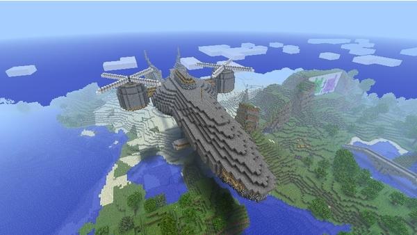 Bild der Galerie Minecraft-Großprojekte - Highwind aus Final Fantasy 7