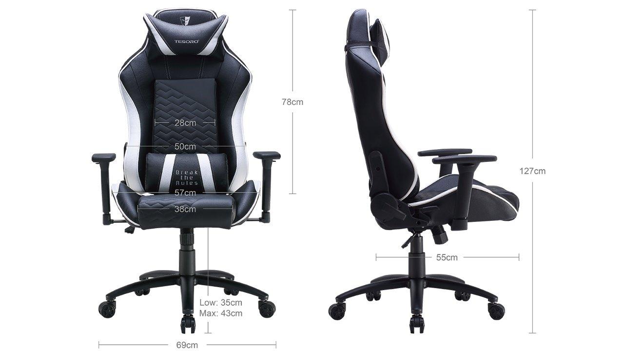 Tesoro Zone Balance F710 Und F730 Viel Gaming Chair Pro