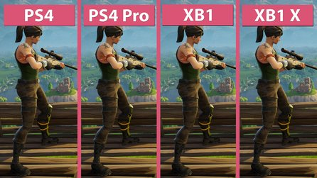 Fortnite: Battle Royale - PS4, PS4 Pro, Xbox One und Xbox One X im Grafikvergleich mit Frame-Rate-Test