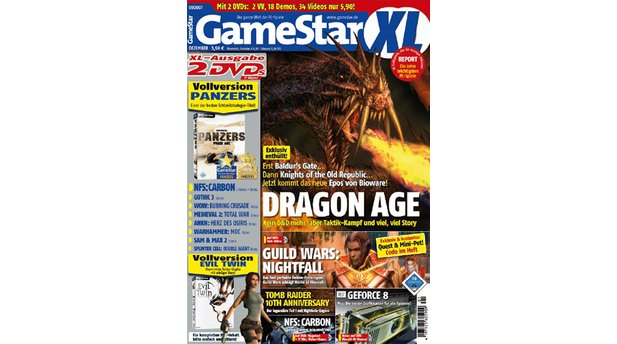 <b>GameStar 1/2007</b><br>Dragon Age-Titelstory über Bioware, Biowares Spielekatalog und Biowares Community. Außerdem: Previews zu Assassin's Creed und Supreme Commander. Tests zu Splinter Cell: Double Agent, Scarface, El Matador, Need For Speed Carbon und Runaway 2.
