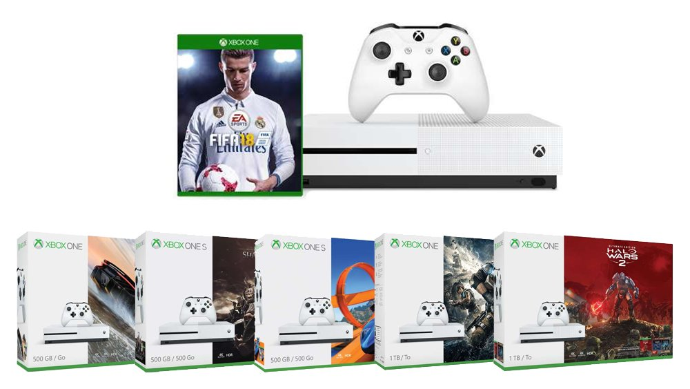 xbox one s im fifa 18 bundle ab 249 euro mit gears of war 4 halo wars 2 forza horizon 3 oder. Black Bedroom Furniture Sets. Home Design Ideas