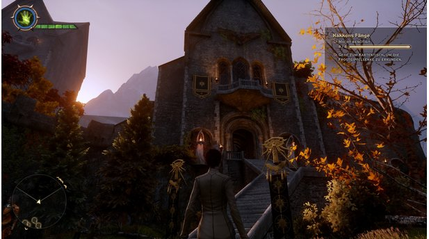 <b>Dragon Age: Inquisition - DLC »Hakkons Fänge«</b><br/>Wir schalten den DLC wie die normalen Gebiete in Dragon Age: Inquistion am Kartentisch in der Himmelsfeste frei.