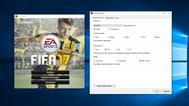 Grafikeinstellungen: FIFA 17