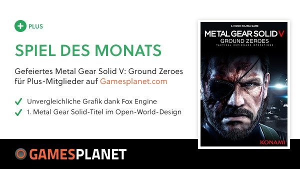 Gratis-Spiel im Mai: GS Plus Vollversion Metal Gear Solid V