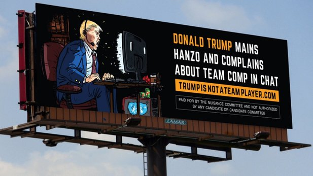 Anti-Trump-Plakat, gezeichnet von Daniel Warren Johnson für das Nuisance Committee in Florida.