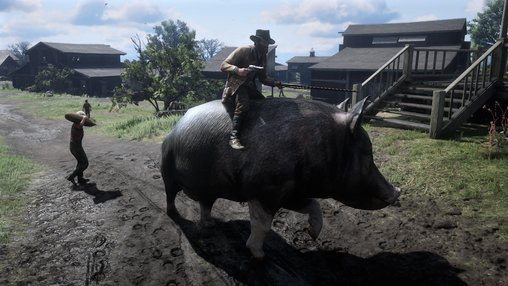 Wild boars in the wild west? No problem thanks to a new RDR2 mod