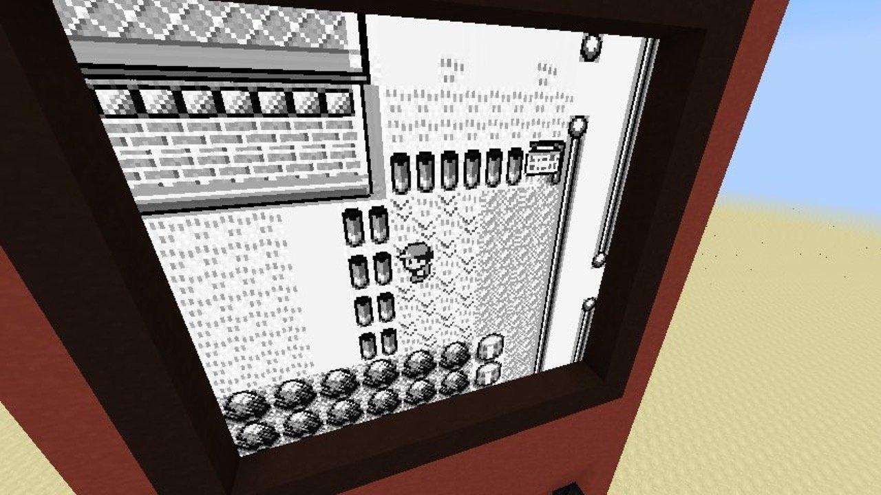 Minecraft Spieler Baut GameBoy Mit Funktionierendem Pokémon GameStar - Minecraft spieler fallen