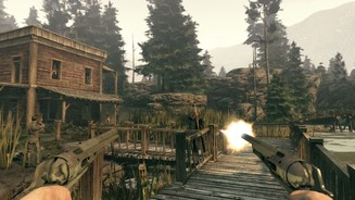 Call of Juarez: Bound in Blood - MultiplayerAuf der Karte Stinking Springs wandeln Sie auf den Spuren von Billy the Kid und Pat Garret.