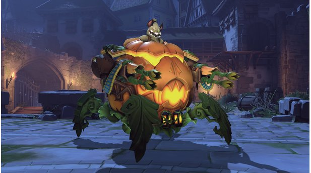 Overwatch - Halloween-Skins 2018 - Kürbis Wrecking Ball Hammond
