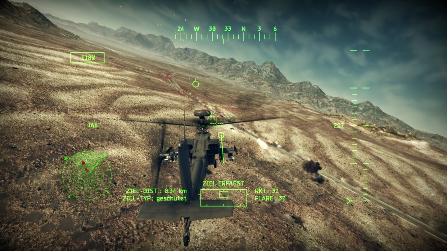Apache: Air AssaultScreenshots aus der Test-Version von Apache: Air Assault.