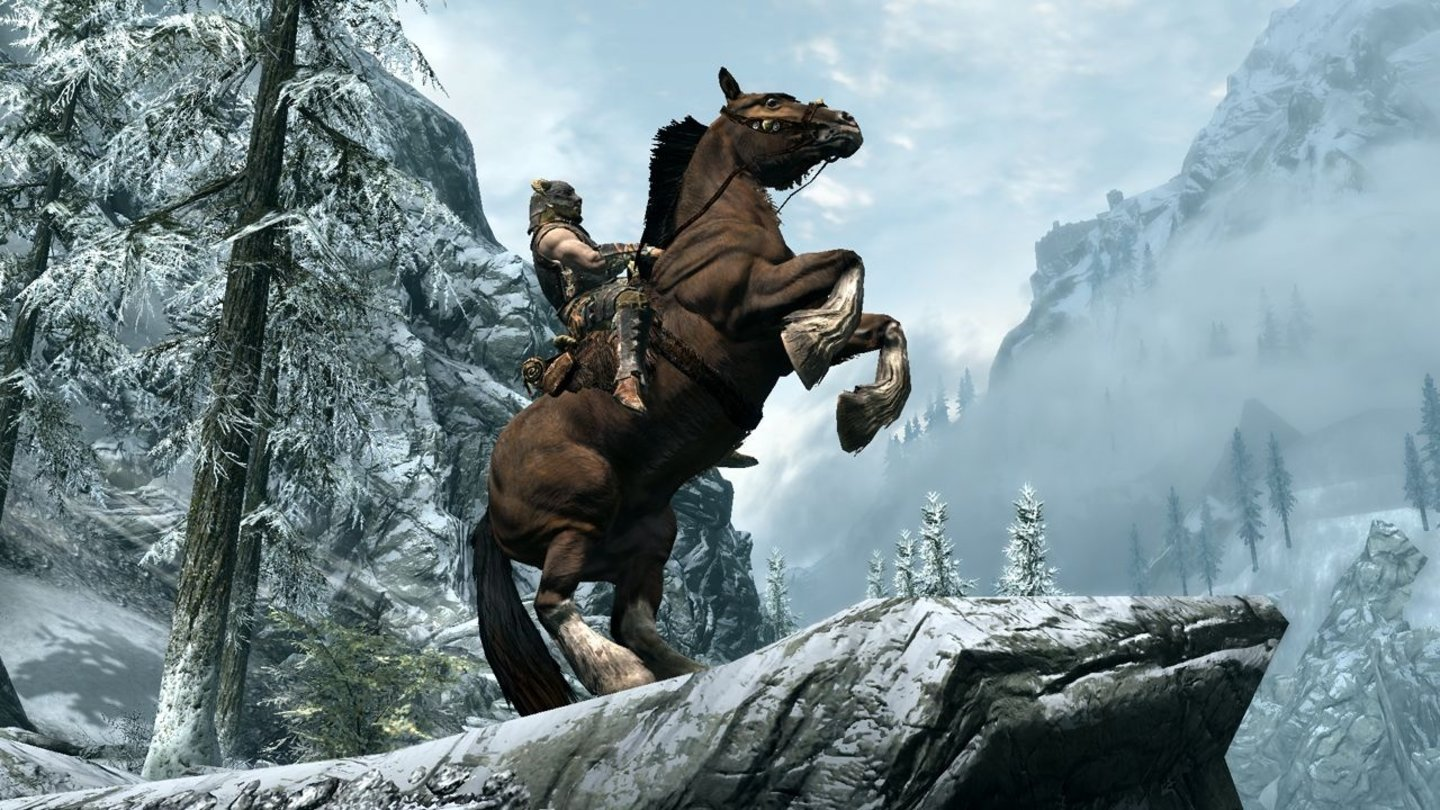 The Elder Scrolls 5: Skyrim - E3-Screenshots: Horse