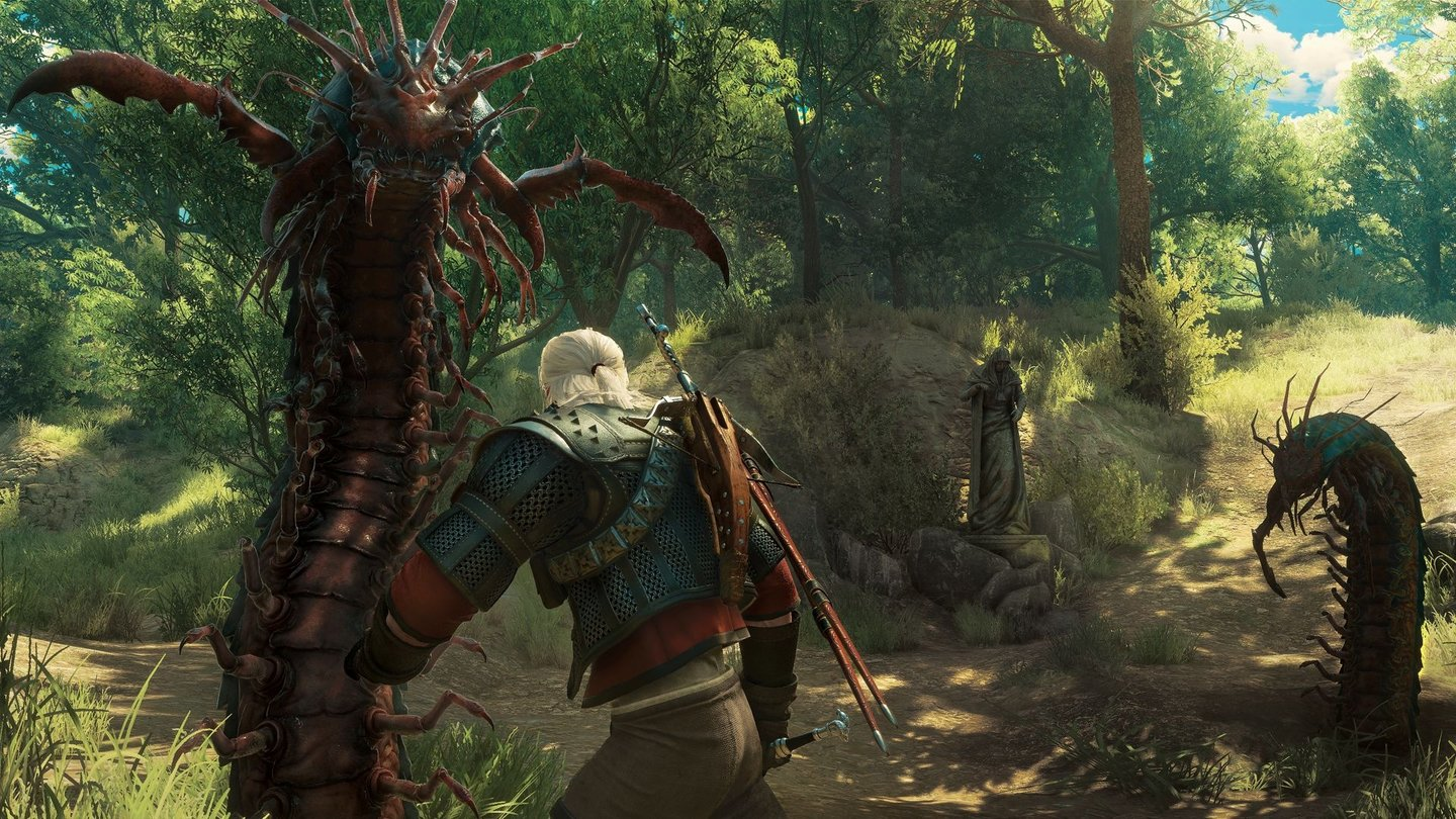 The Witcher 3: Blood and WineDiese ekelhaften Tausendfüßler gehören zu den neuen Monstern, mit denen wir es in Blood and Wine zu tun bekommen.