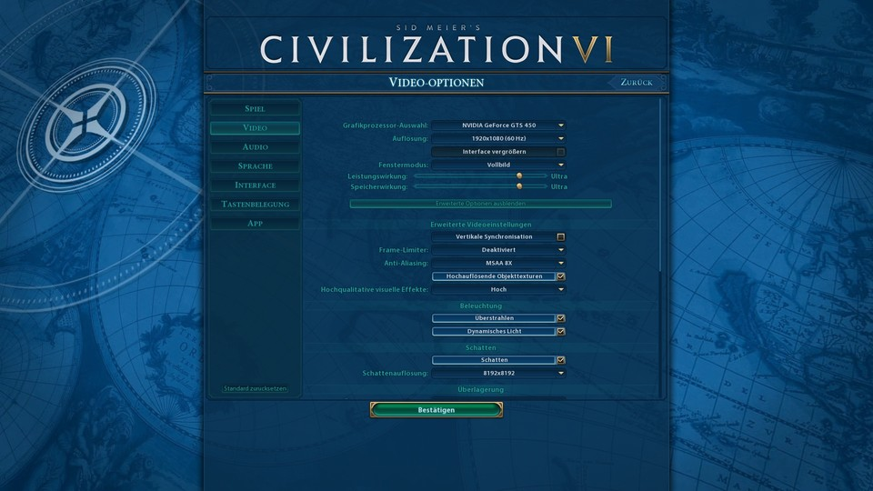 Civilization 6 - Grafikmenü #1