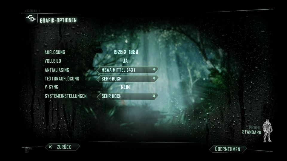 Crysis 3 Grafikeinstellungen