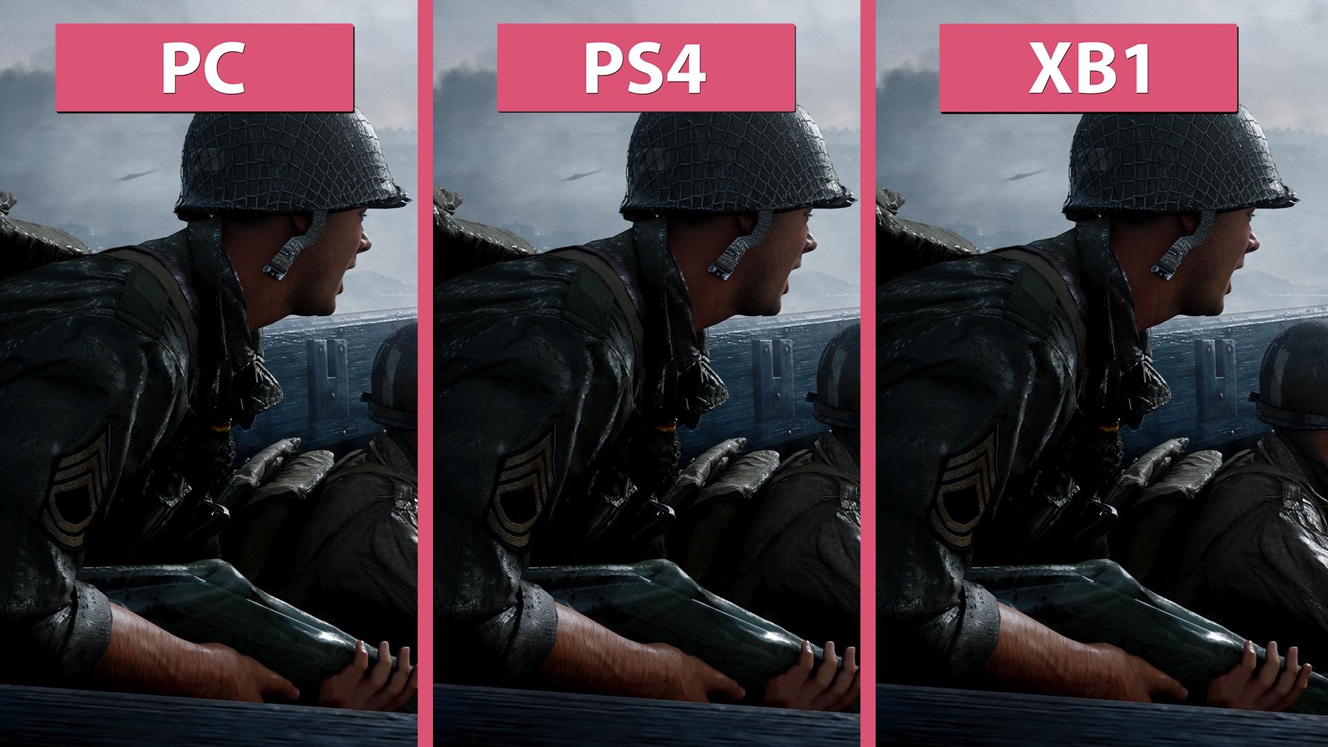 Call Of Duty Ww2 Pc Gegen Ps4 Und Xbox One Im
