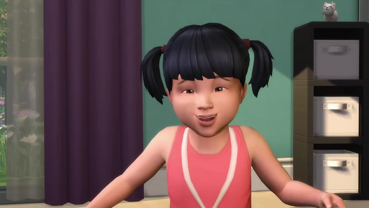 die sims 4 gameplay trailer stellt das kleinkinder. Black Bedroom Furniture Sets. Home Design Ideas
