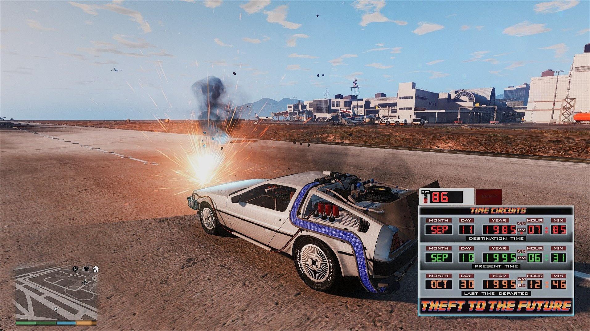 GTA 5 - Neuer Mod lässt Zeitreisen mit Delorean aus Zurück in die Zukunft zu