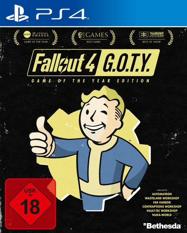 """Fallout 4: Game of the Year""-Packshot."