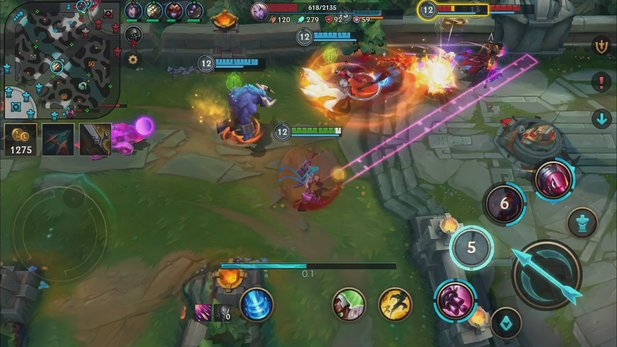 So sieht League of Legends: Wild Rift aktuell in der Mobile-Version aus.