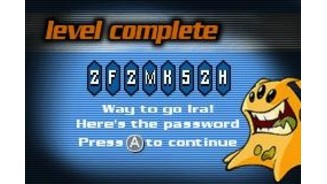 After each level completed, we get a password for latter use.