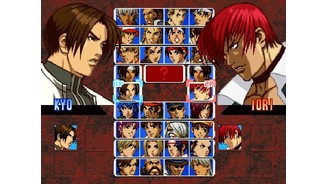 Now, Kyo and Iori are available without cheats. Great!
