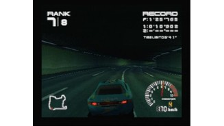 Lights turn on automatically when driving through the tunnel or if you're racing at night