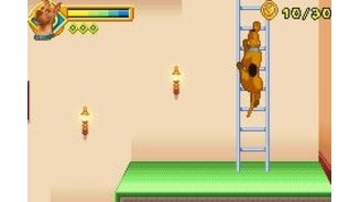 Scooby can climb ladders... quite impressive for a dog! Of course, Scooby can talk, so climbing ladders isn't much.