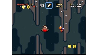 Super Fat Mario is floating in the air