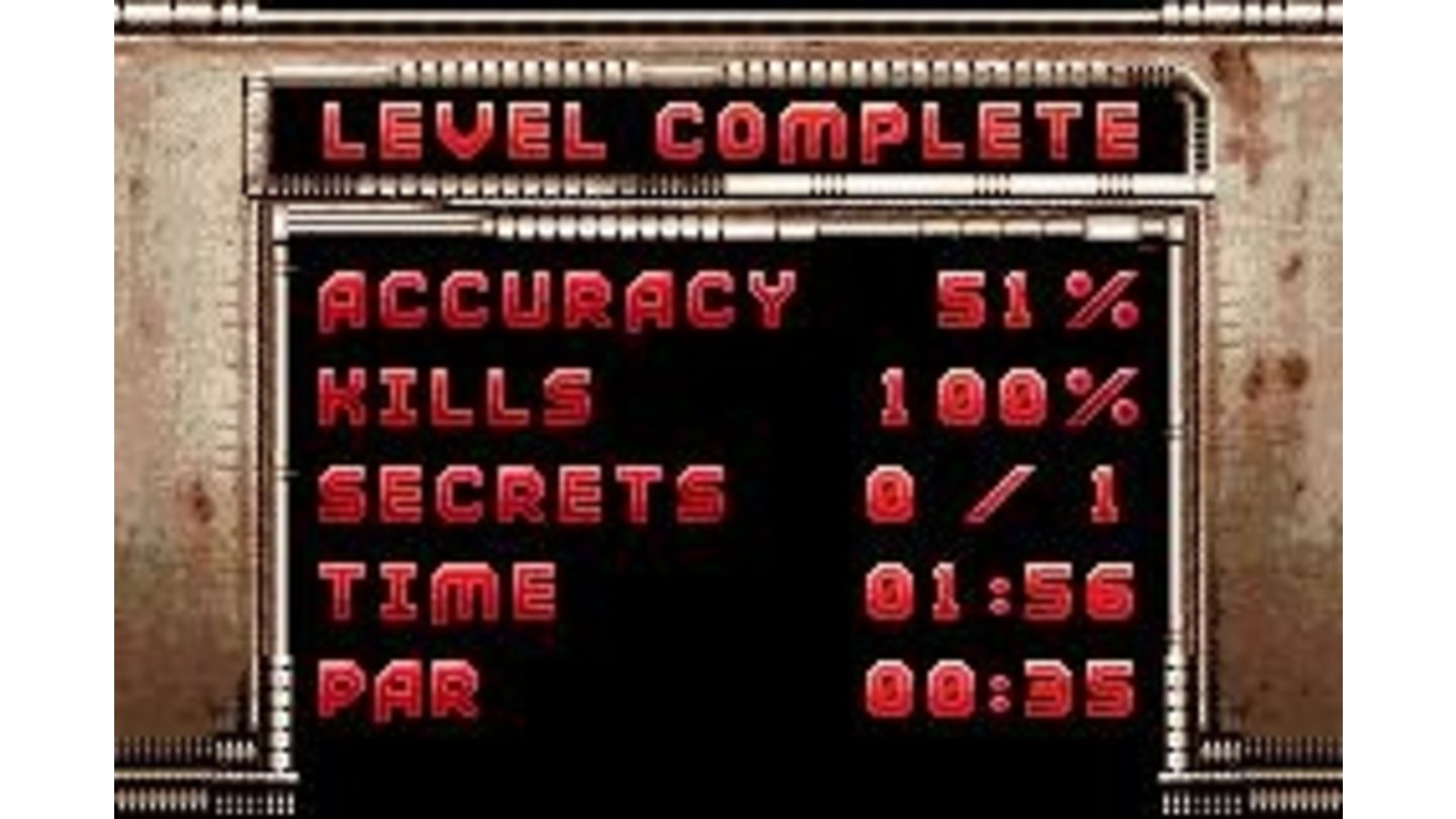 Level completion screen