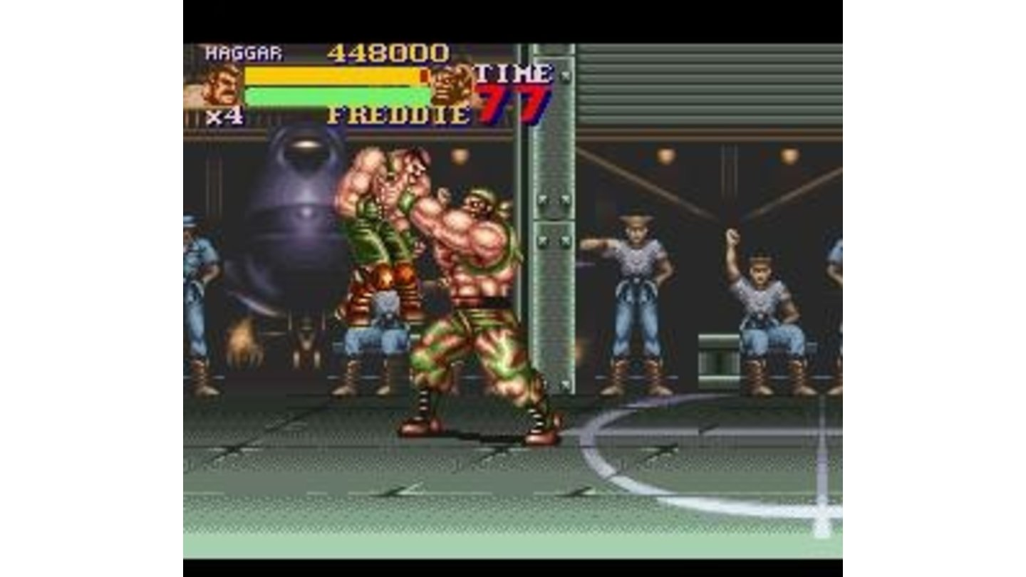 Haggar grabbed by a boss