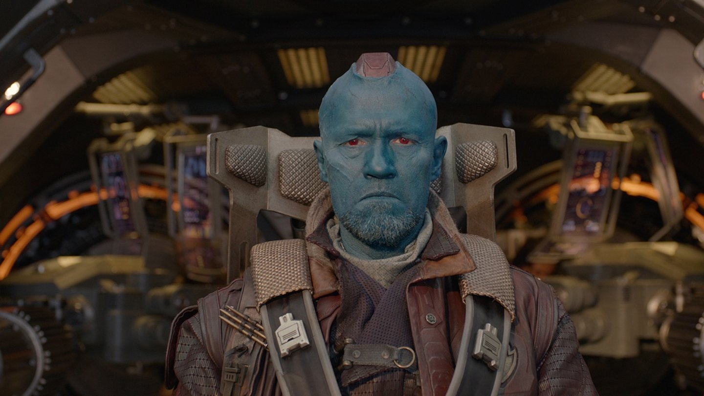 Guardians of the GalaxyDarf in keinem James Gunn-Film fehlen: Michael Rooker als fieser Weltraumpirat.