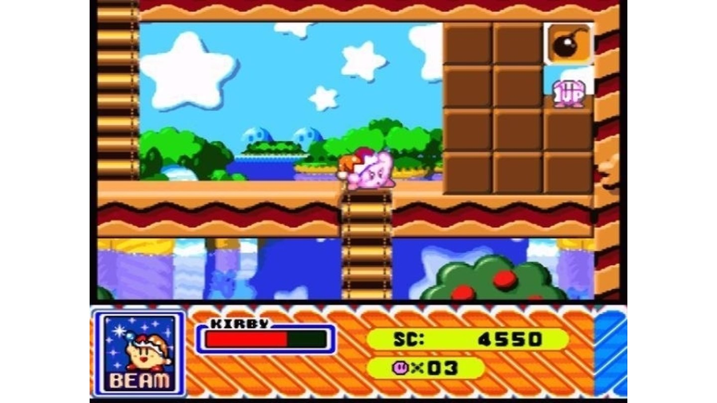 Watch out, enemies and walls, this Kirby-shooter can destroy anything with his powerful ray