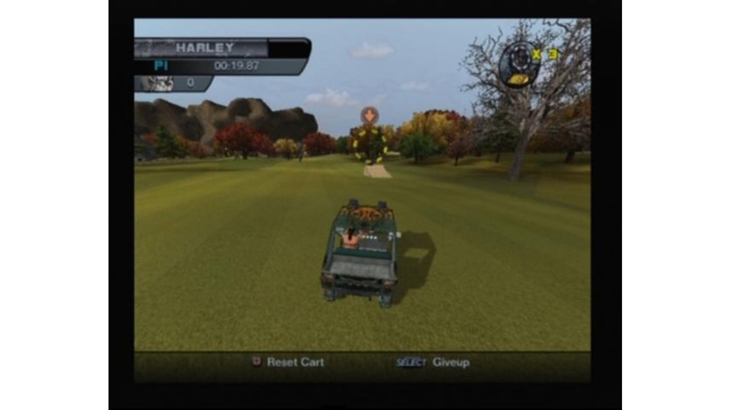Winning a golf cart racing will earn you the legendary fire ball