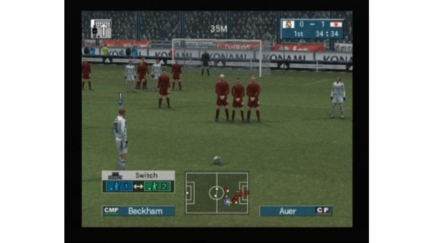 Beckham on a free kick