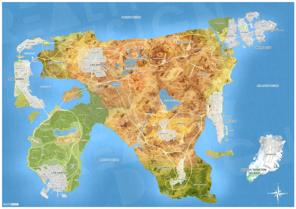 GTA 6-Map? (Bild: Reality Design)