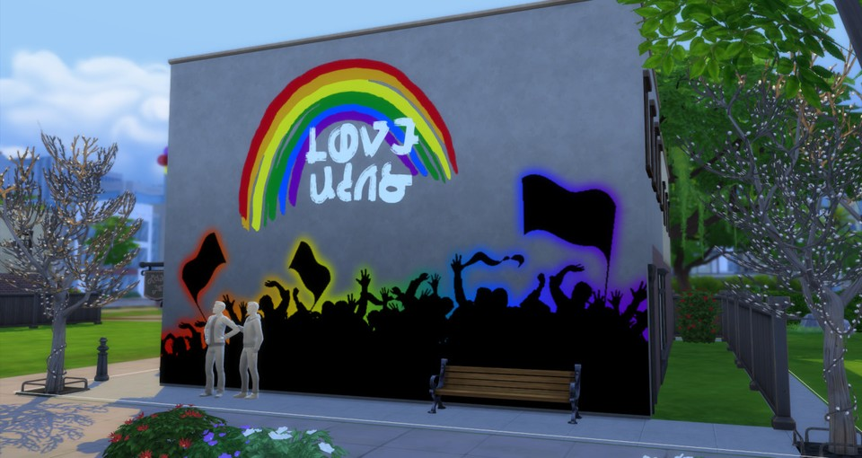 Love Wins - auch in den Sims. Fotocredit: The Crypt O` Club