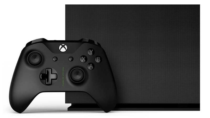 Die Xbox One X in der vorbestellbaren Project Scorpio Edition.