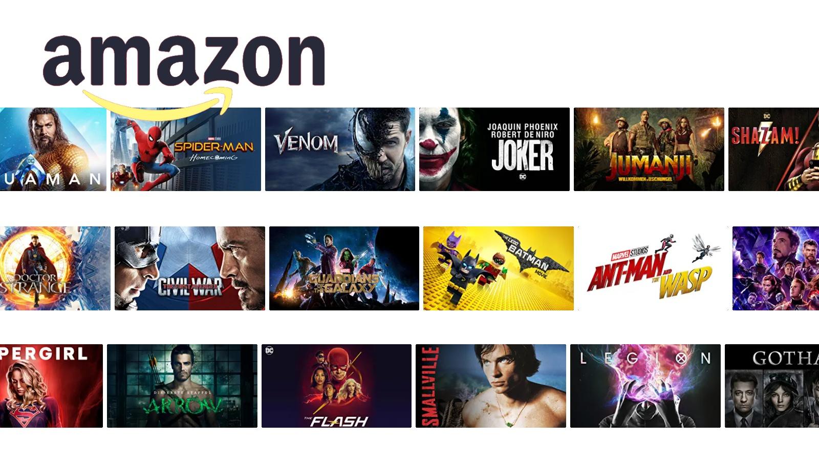 Amazone prime video angebot liste